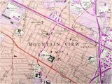 Where is Mountain View California On the Map Antique Mountain View California 1961 Us Geological Surve