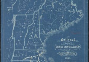 Where is New England Located On the Map File Railroad Map Of New England with Adjacent Portions Of New York
