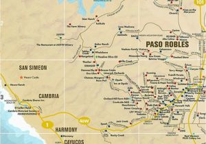 Where is Paso Robles California On the Map Map Of Paso Robles California Massivegroove Com