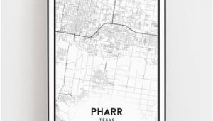 Where is Pharr Texas On the Map Pharr Texas Map Etsy