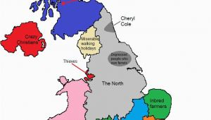 Where is Sheffield In England Map A Map Of Gt Britain According to some Londoners Travel