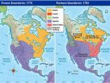 Where is Spain On World Map Pre War and Post War Borders In northern America In 1775 1783