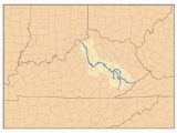 Where is the Ohio River On A Map Kentucky River Wikipedia