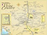 Wine Country northern California Map Paso Robles Wine Tasting Map Paso Robles Daily News