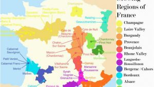 Wine Region Map Of France French Wine Growing Regions and An Outline Of the Wines