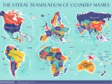 World Map Of Africa and Europe World Map the Literal Translation Of Country Names