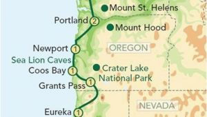 Yachats oregon Map Map oregon Pacific Coast oregon and the Pacific Coast From Seattle