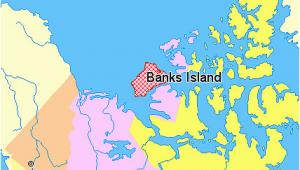 Yellowknife Map Canada File Map Indicating Banks island northwest Territories