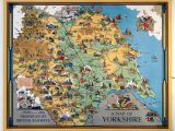 Yorkshire On the Map Of England Vintage Travel Posters Devon Yorkshire Google Search English