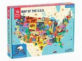 Your Child Learns Europe Map Puzzle Mudpuppy Map Of the United States Of America Puzzle 70 Pieces 23 X16 5 Ideal for Kids Age 5 Learn All 50 States by Name Capital City and More