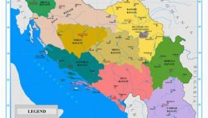 Yugoslavia Europe Map the Nine Banates Banovinas Of the Kingdom Of Yugoslavia