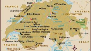 Zurich Switzerland Map Europe Map Of Switzerland
